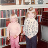 November 1981<br /> Thanksgiving Day, 262 Marich Way, Los Altos, Ca<br /> Teresa (2 1/2) and Rebecca (3 1/2) Clay on mini-trampoline.
