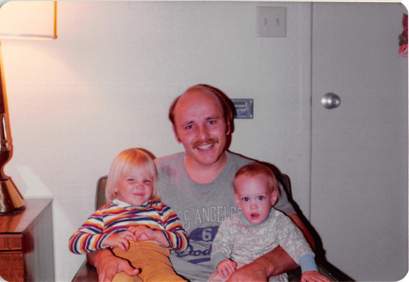 October 1981<br /> 144-D Escondido Village, Stanford, CA<br /> Teresa (2 1/2), Bob & Craig (11 months)