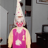 October 1981<br /> 144-D Escondido Village, Stanford, CA<br /> Halloween - Teresa (2 1/2) dressed as a clown for Primary Party and Trick or Treating.