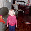 Dec. 1981<br /> 144-D Escondido Village, Stanford, CA<br /> Teresa (2 1/2) wearing mommy's sandals.