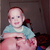 October 1981<br /> 144-D Escondido Village, Stanford, CA<br /> Craig (11 months) discovering daddy's tongue.