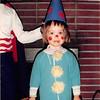 Oct. 31, 1988<br /> 262 Marich Way, Los Altos, CA<br /> Cindy (2) as a clown ready for trick-or-treat.