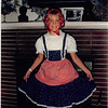 """Oct. 1988<br /> 262 Marich Way, Los Altos<br /> Teresa (9 1/2) in her """"Doll"""" costume for Halloween."""