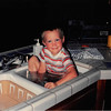 July 1990<br /> 124 Nantucket Cir., Vacaville<br /> Daniel (2) playing in the kitchen sink.