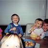 Jan. 1993<br /> 124 Nantucket Cir., Vacaville<br /> Bob, Daniel (4 1/2), Steven (20 mths.), Craig (12) & part of Cindy's face (6)