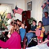 July 1994<br /> 4th of July celebration at Spencers, San Marino, CA<br /> Cindy holding flag and lots of cousins