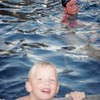 Summer 1995<br /> Kent & Maarti's pool--Brentwood, CA<br /> Steven & Cindy