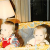 Christmas day 1979<br /> Tustin, CA<br /> Christy & Teresa (10 months) eating chocolate chip cookies.