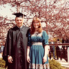 April 18, 1980<br /> Bob and Vickie in front of Marriott center after commencement exercises.