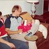 April 18, 1980<br /> 1104 W. 680 S., Orem, UT<br /> Vickie, Bob & Teresa ready for bed.