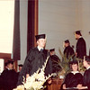 April 18, 1980<br /> convocation in JSB auditorium<br /> Bob about to receive his diploma cover.
