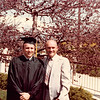 April 18, 1980<br /> Bob and his dad in front of Marriott Center after commencement exercises.
