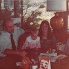 April 18, 1980<br /> Bob, Teresa, Vickie & mom Meakin at Colony Kitchen restaurant after commencement exercises.