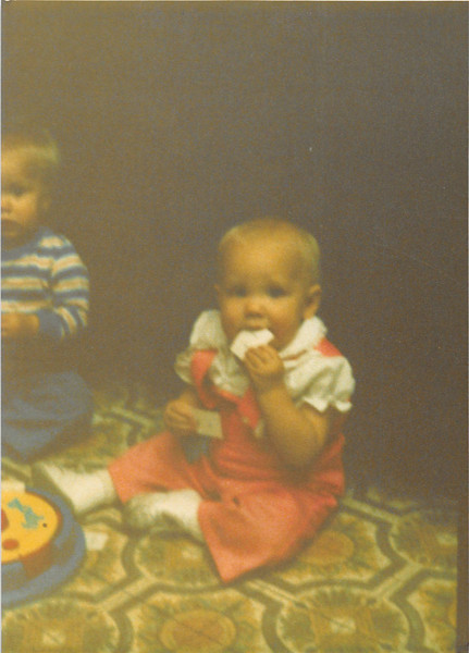 Nov. 1979<br /> Thanksgiving at Bruce's in Fountain Valley, CA<br /> Wes Cardall & Teresa (9 months)