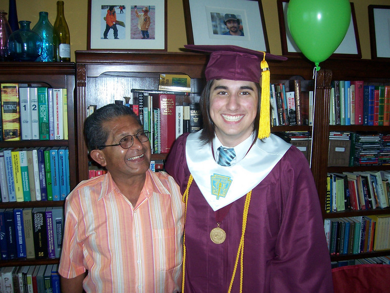 Alex and his grandfather.