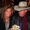 Nancy Rowlett and some unknown cowboy