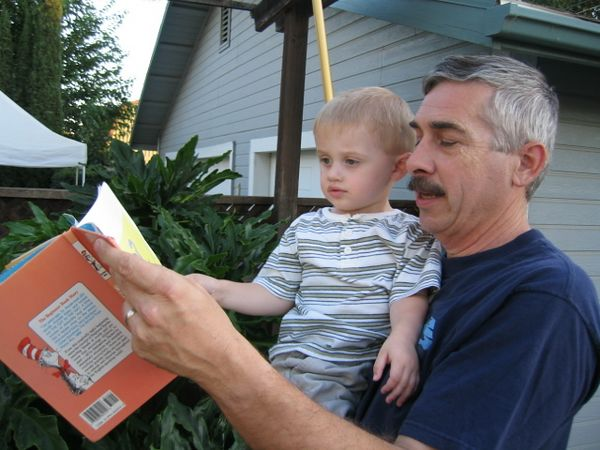 """Alex with """"Uncle"""" Tom Loper in Lincoln, CA."""