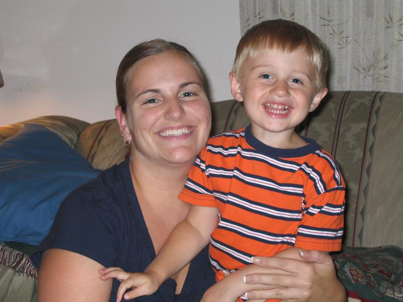 Alex with his Behavioral Therapist, Melissa.