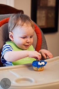 Alex's 18 month birthday with cupcakes