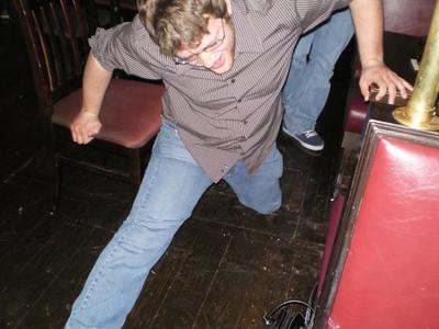 Alex - gettin' his moves on