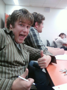 Alex in class - Canadore College 2009