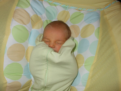 Baby in a pea pod