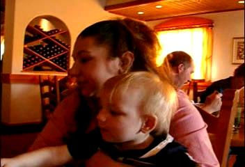 """<br><br><font size=""""3"""">***This is a video*** <br><br>Kate and Jacob share a breadstick.<br><br>If the video doesn't start in a few seconds, click on the photo.</font>"""