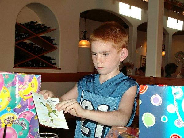 "<br><br><font size=""3"">Alex opens a birthday card.</font>"