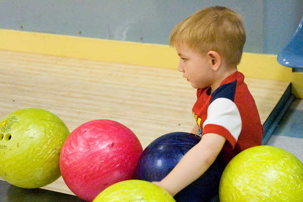 """<font size=""""3"""">It's harder when you're not much bigger than the bowling ball.</font>"""