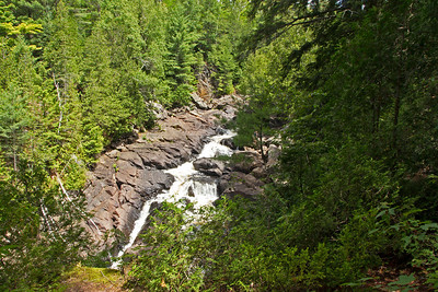View of Ragged Falls on the Oxtongue River