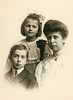 Franklin, Gladys, and Bertie Ward, Grand Rapids, 1905.