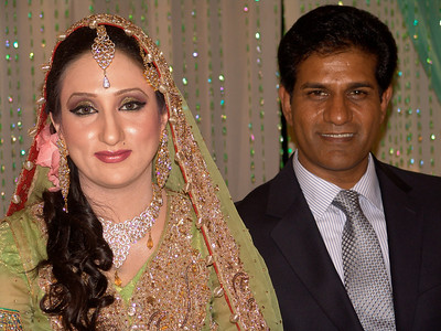 Ali with his new bride
