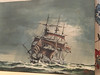 3 masted Sq rigger stormy seas