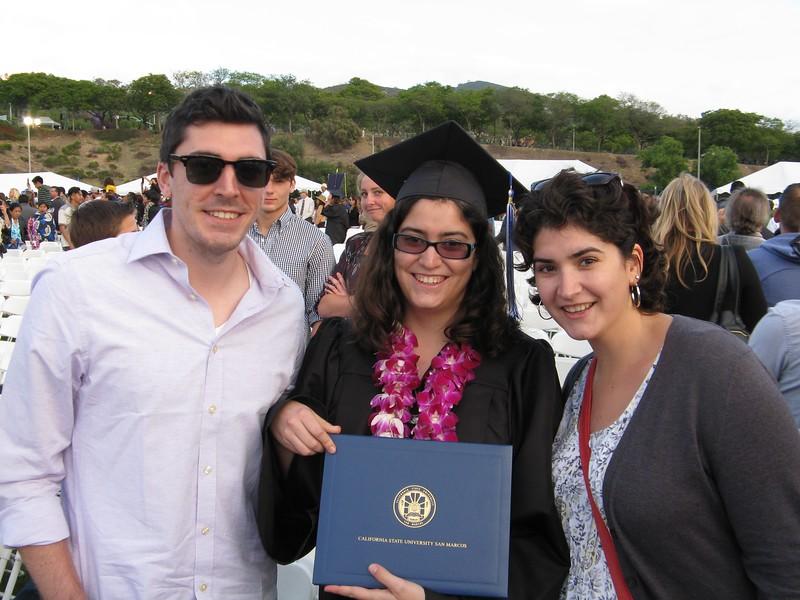 Our three college graduates! Alex USD 2012, Alicia CSUSM 2016, and Marissa CU-Boulder 2015.