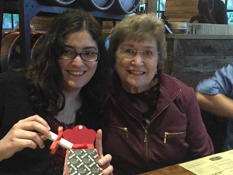 Alicia and Grandma Elaine.