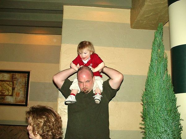 <br><br><font size=3>Jake uses Uncle Eric to get a good view.</font>