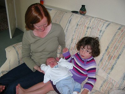 Rosie meets baby James and his Mum , Jenny