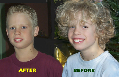 parker before and after haircut