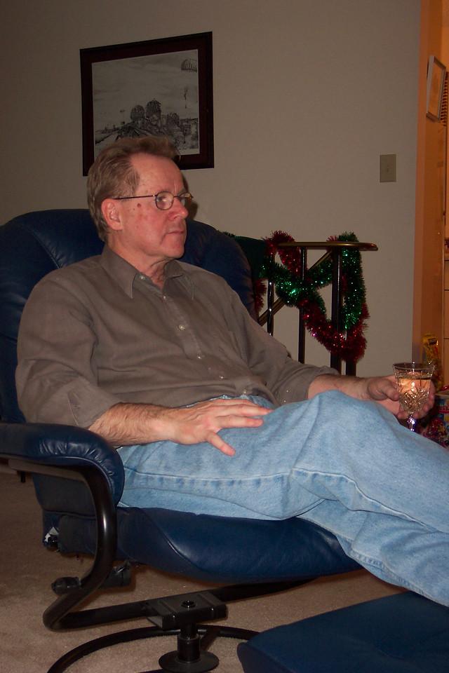 Dad around Christmas time, 2003.