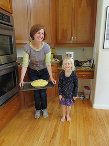 On the Wednesday before Thanksgiving, Aunt Nancy and Allegra made an apple pie for Allegra's family celebration on Thanksgiving.