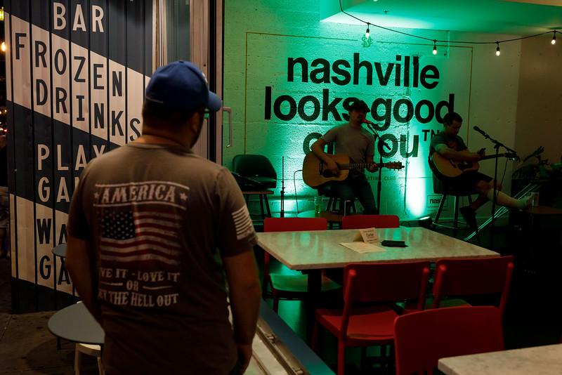 Scenes Along Broadway In Nashville - July 23, 2019