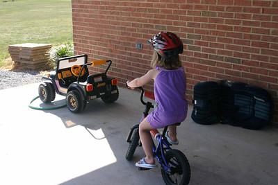 Allyssa rides her bike