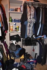 Master closet shelving