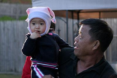 Alyssa with grandpa.