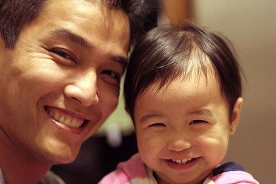 Daddy's & Alyssa's cheesy smiles.