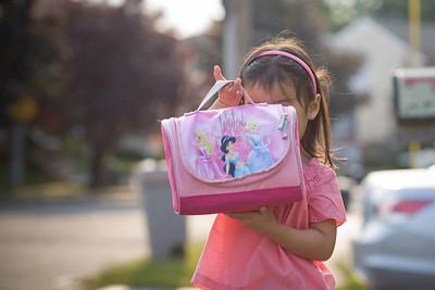 Alyssa showing off her lunchbox.