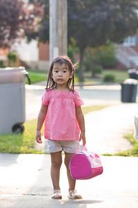 Nervous first day of preschool look.