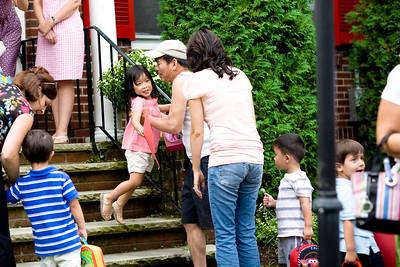 Alyssa being picked up from preschool by grandpa.