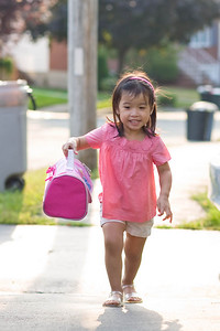 Happy to be going to preschool.