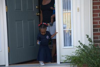 Amanda Grace's 1st day of school